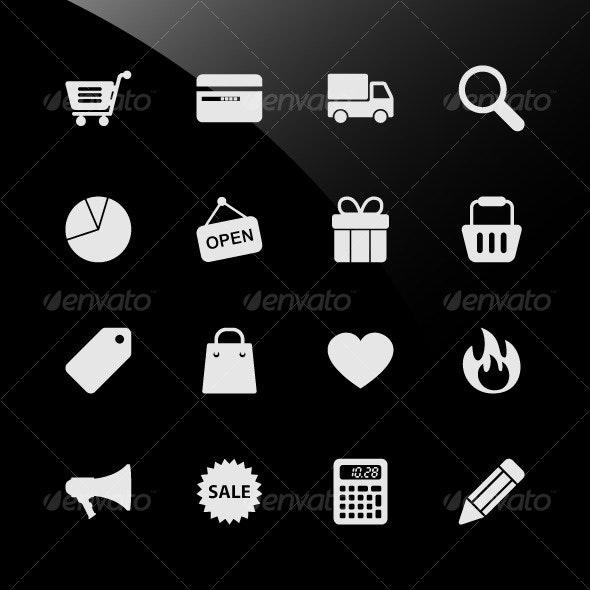 Ecommerce Shopping Web Icons - Web Elements