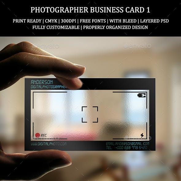 Photographer Business Card 1