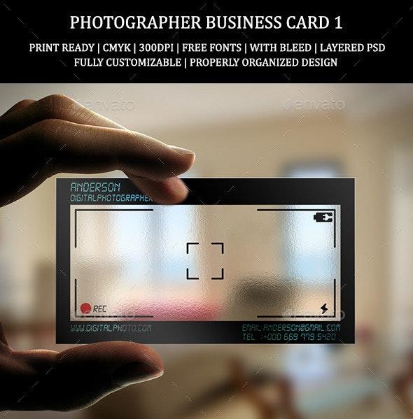 Photographer Business Card 1 - Creative Business Cards