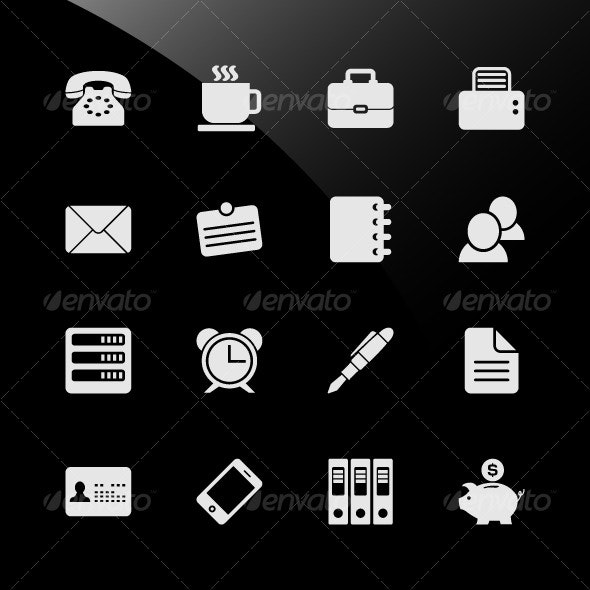 Office Work Workplace Business Financial Web Icons - Web Elements
