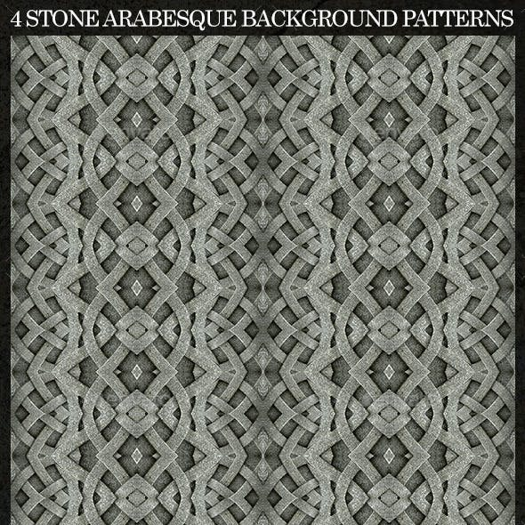 4 Stone Arabesque Patterns in Gray Tones