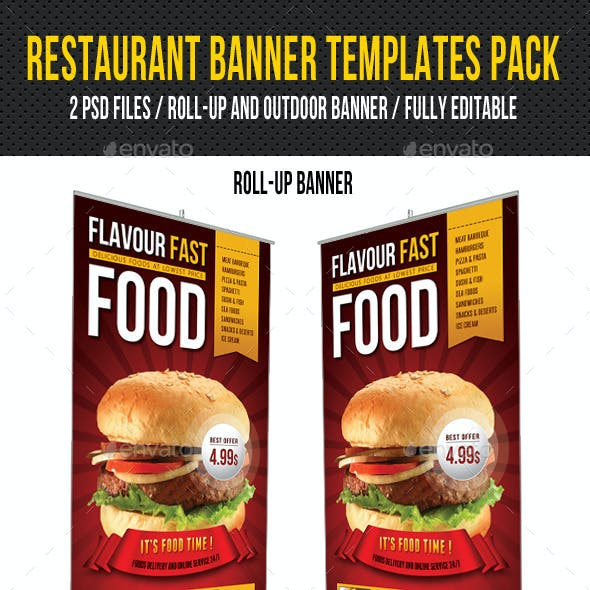 Restaurant Banner Templates Pack