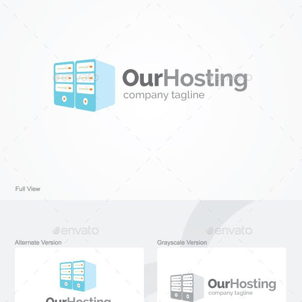 Our Hosting Logo Template