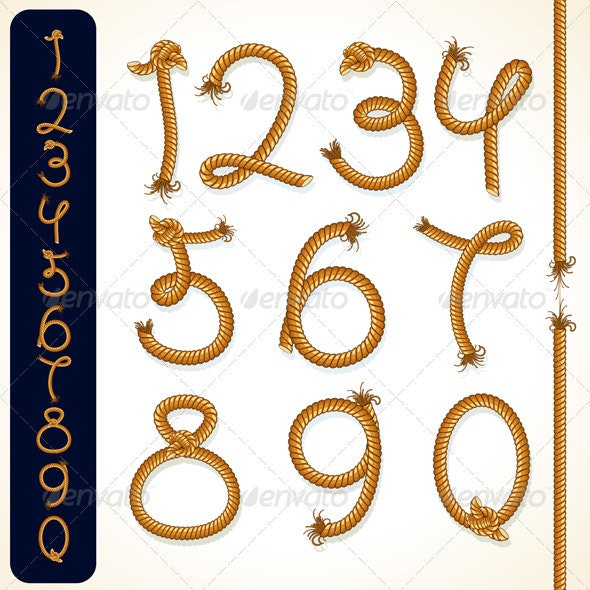Rope Numbers - Characters Vectors