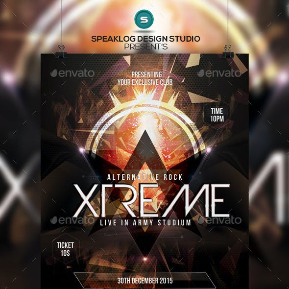 Xtreme Futuristic Flyer Design