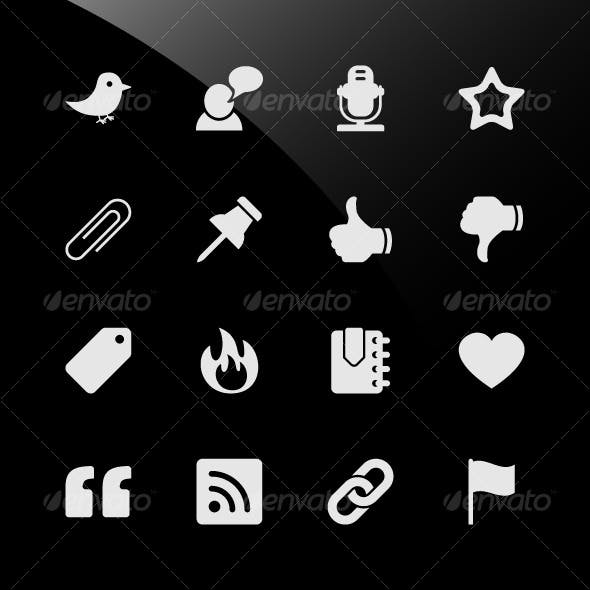 Social Media Web Icons