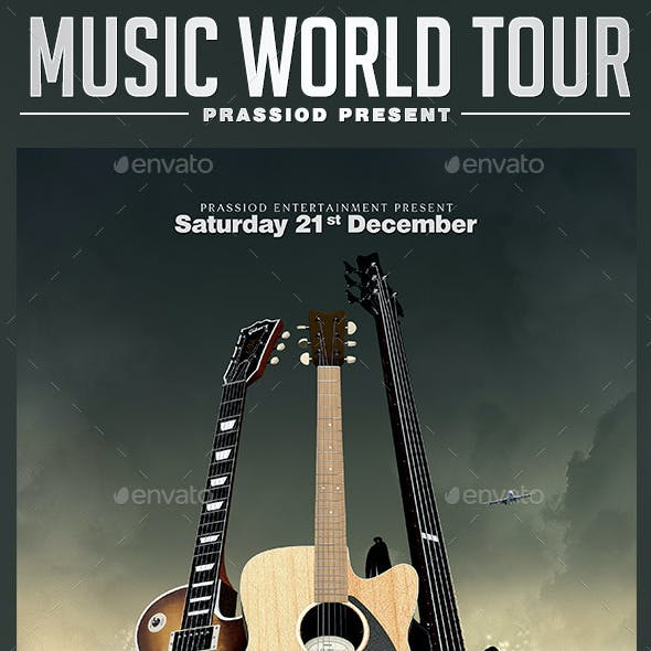 Music World Tour Flyer Template