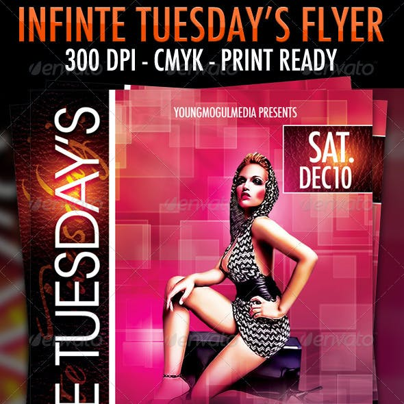 Infinite Tuesday's Flyer Template