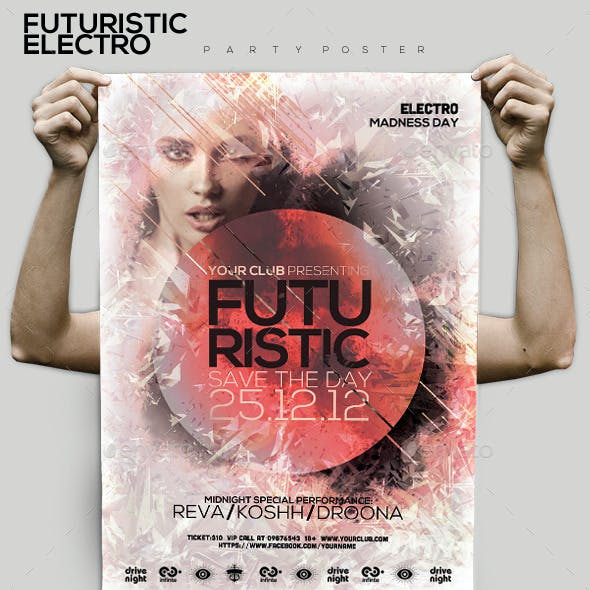 Futuristic Electro Party Flyer/Poster