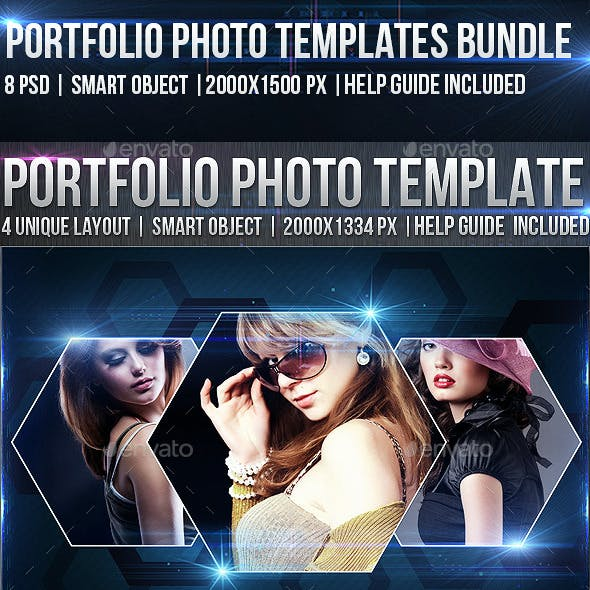 2 Portfolio Photo Template Bundle