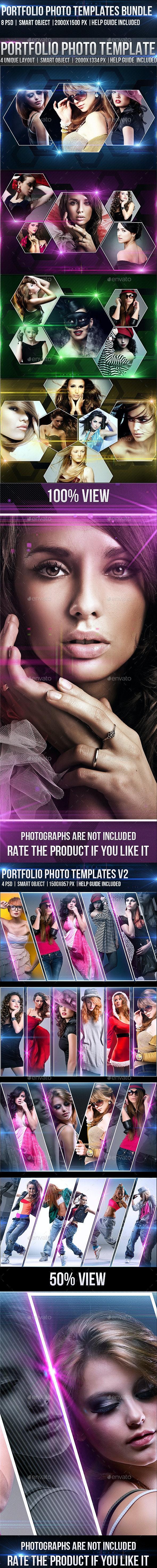 Portfolio Photo Template Bundle - Photo Templates Graphics