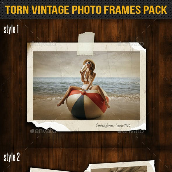 Torn Vintage Photo Frames Pack