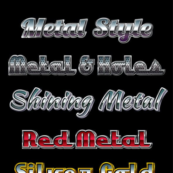 Metal Graphic Styles for Ai