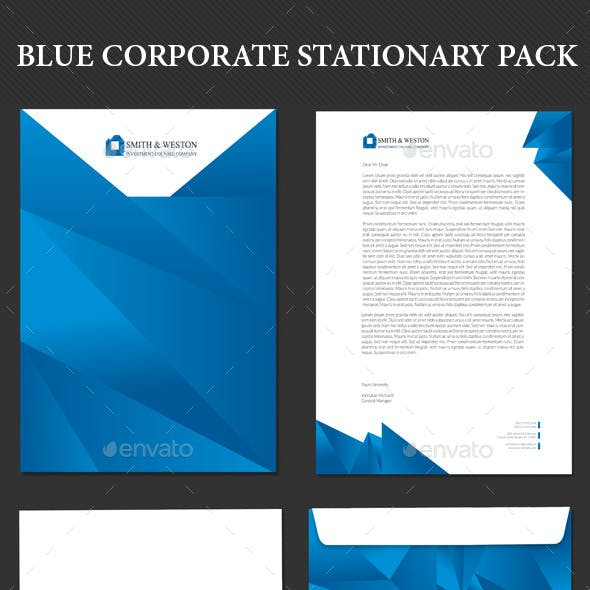 Blue Corporate Stationary Pack
