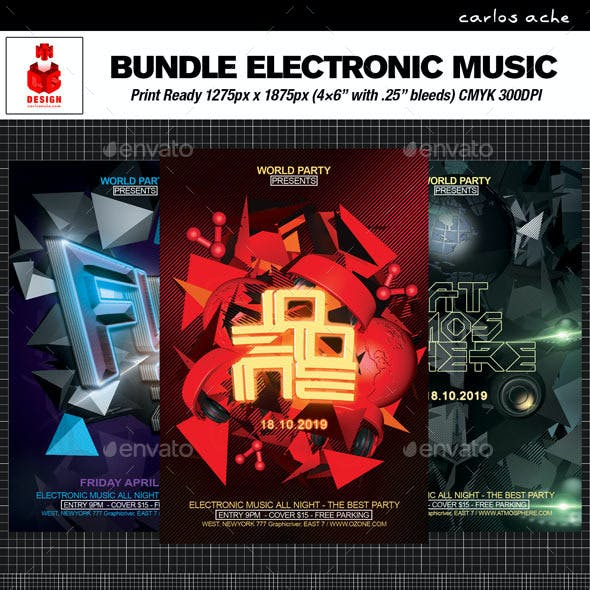 Electronic Music Flyer Bundle