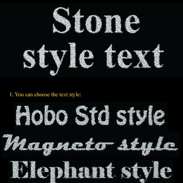 Stone Text Action