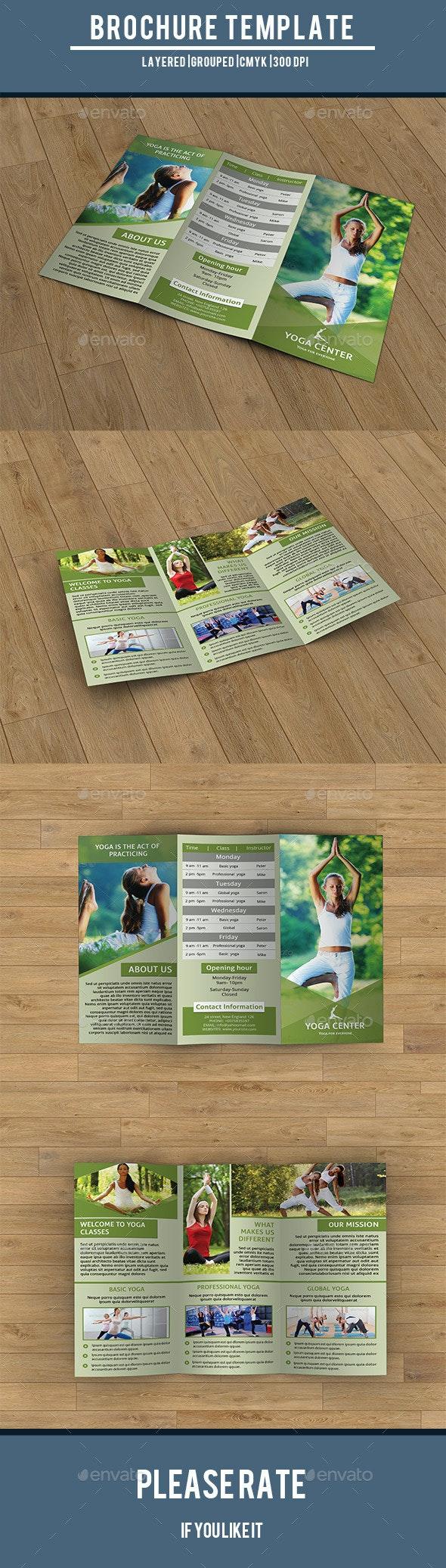 Trifold Brochure for Yoga Training Center-V203 - Corporate Brochures