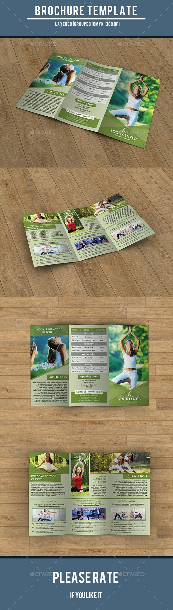 Trifold Brochure for Yoga Training Center-V203 - Corporate Brochures