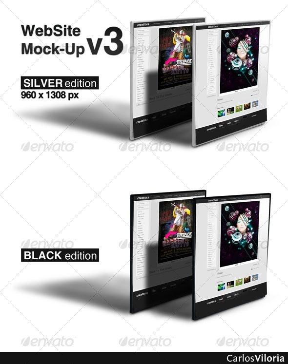 WebSite Mock-Up v3  - Website Displays