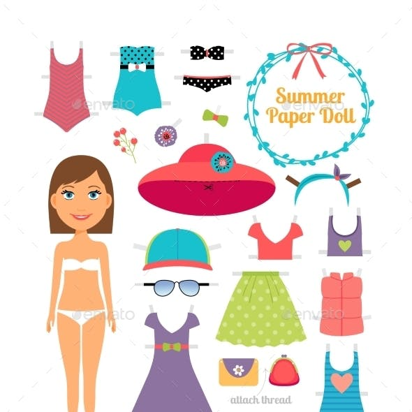 Summer Paper Doll