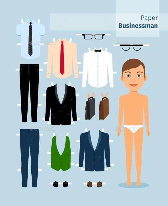Paper Businessman - Business Conceptual