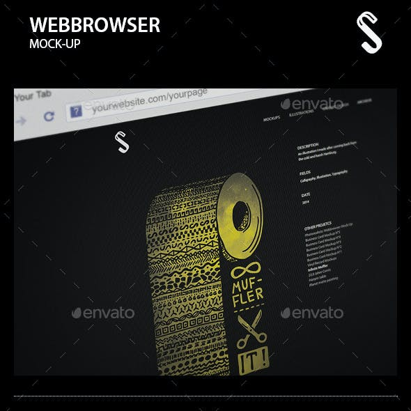 Photorealistic Webbrowser Mock-Up