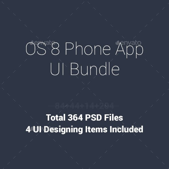 Phone6 Plus OS8 Style App UI Bundle