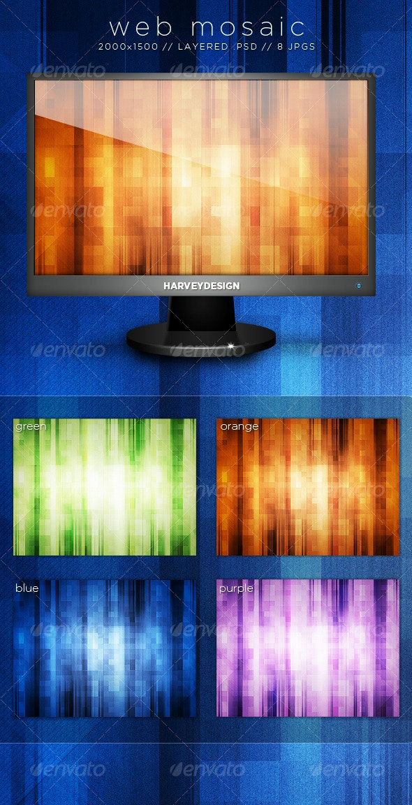 Web Mosaic Backgrounds - Backgrounds Graphics