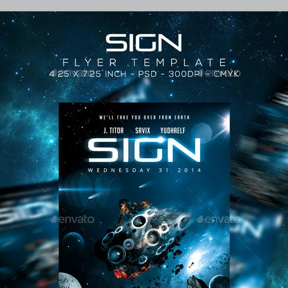 Sign Flyer / Poster Template