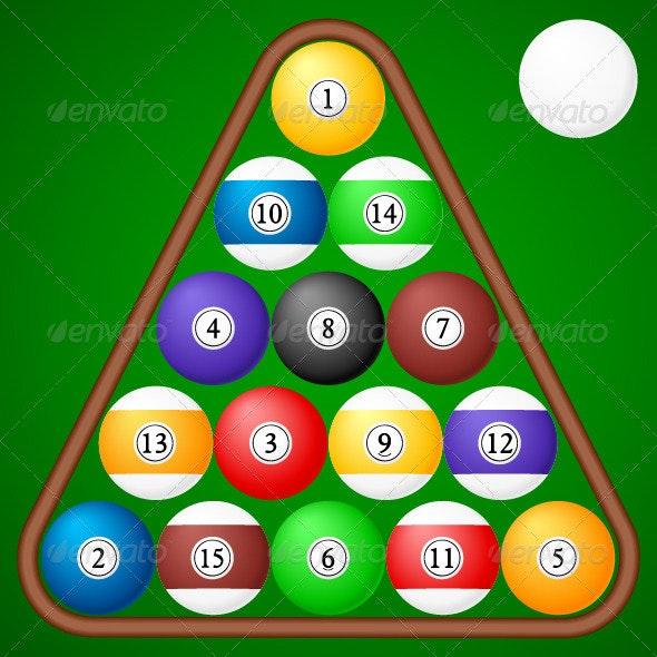 Billiards Balls - Sports/Activity Conceptual