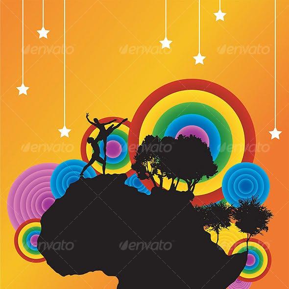 Rainbow Couple Dance  -  AFRICA