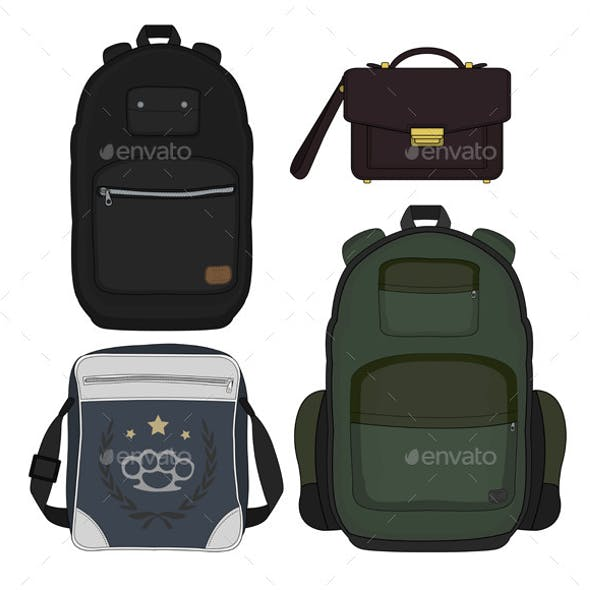 Set of Four Men's Bags