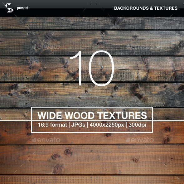 10 Wide Wood Textures - Wood Backgrounds
