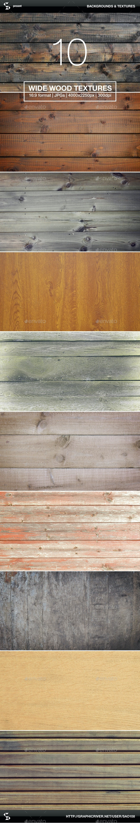 10 Wide Wood Textures - Wood Backgrounds - Wood Textures