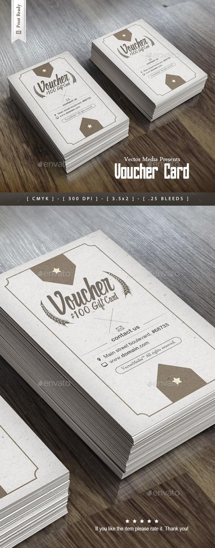 Vintage Voucher Card - Loyalty Cards Cards & Invites