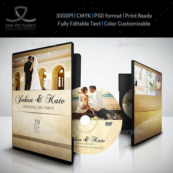 Wedding DVD Cover and DVD Label Template Vol.4
