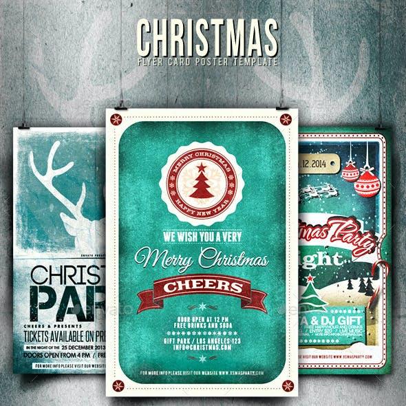 Bundle - Christmas Flyer/Card/Poster Vol.3-5-7
