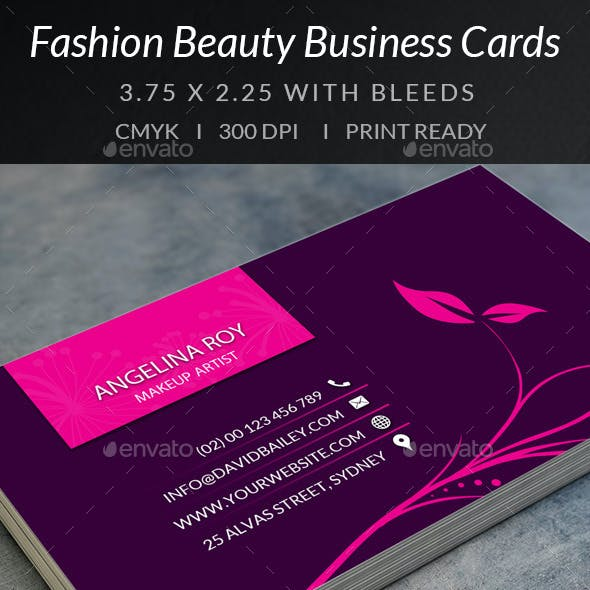 Fashion Beauty Business Cards 1