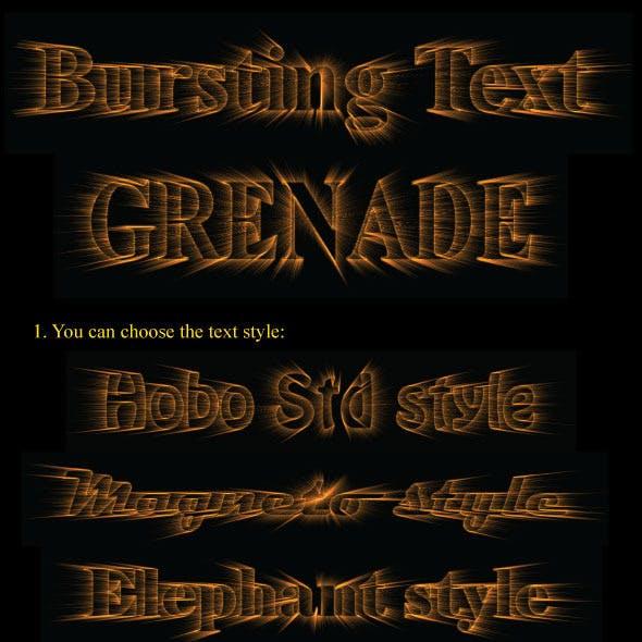 Bursting Text - Grenade