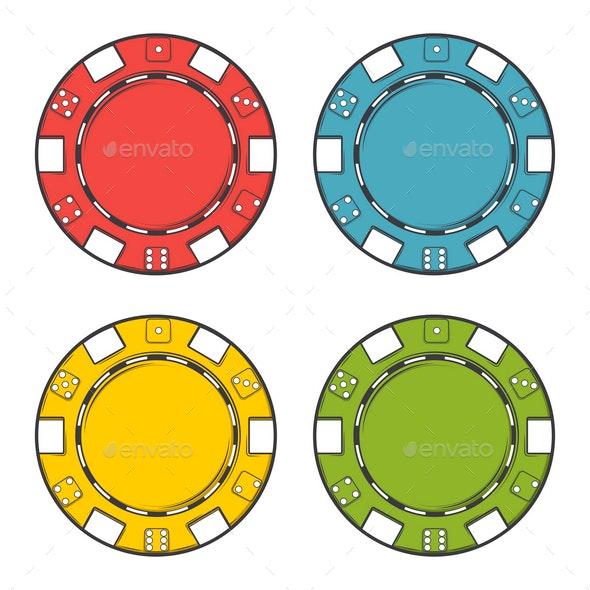 Casino Chips Set - Business Conceptual