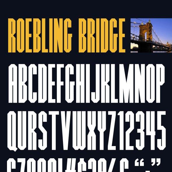 Roebling Bridge Font