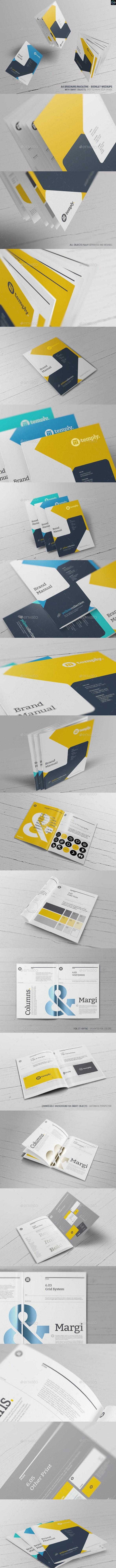 A4 Brochure/ Magazine-Booklet Mockups - Brochures Print