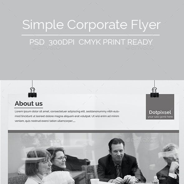 Simple Corporate Flyer Design