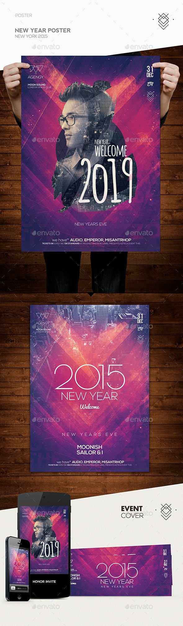 New Year Poster Flyer - Clubs & Parties Events