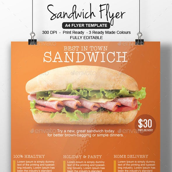 Sandwich Flyer Template