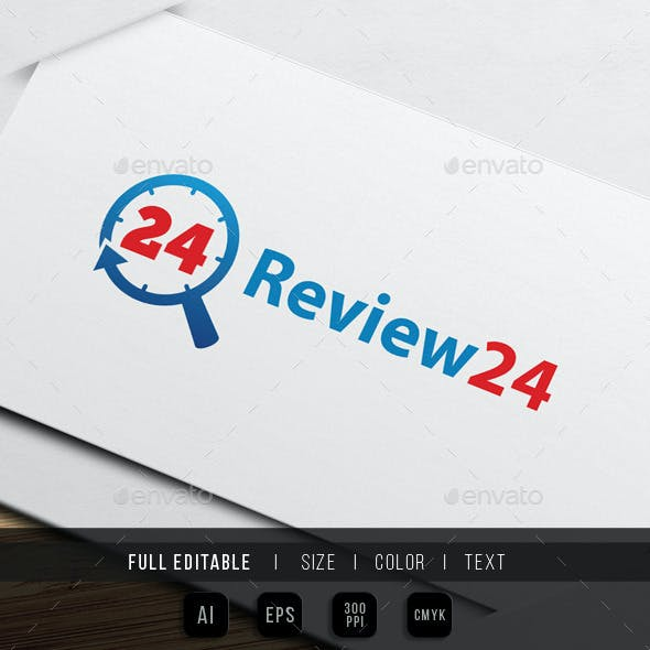 review - search - 24 hour logo