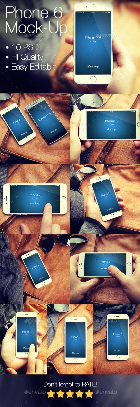 Phone 6 Mockup - Mobile Displays