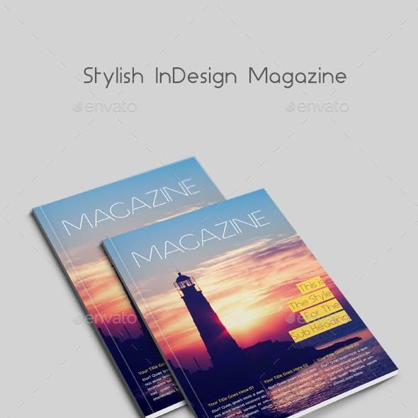 Stylish InDesign Magazine 40 Pages