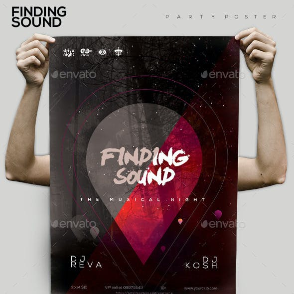 Finding Sound Party Flyer/Poster