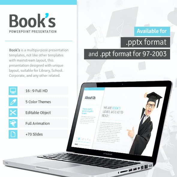 Book's - Powerpoint Template